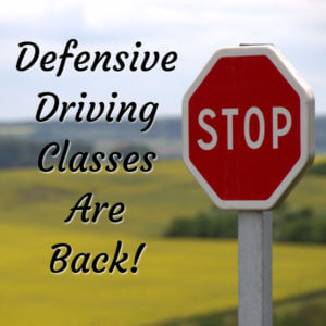 Defensive Driving Spring 2017